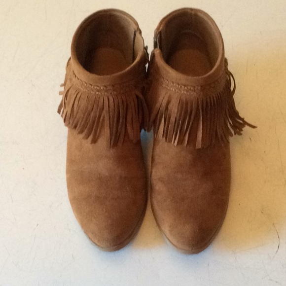 shopping outlet top brands Xappeal Chelsie Girl's Tan Fringe Ankle Boots